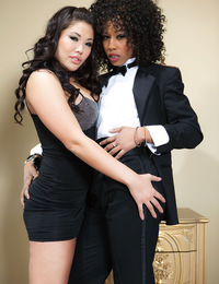 London Keyes and Misty Stone are delighted to celebrate their first anniversary as an interracial lesbian couple with a big formal dinner. But the gir