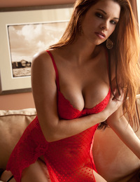 Admire Sabrina's perfect body in red lingerie in this intense solo.