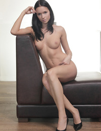 Anna,Kiss Me,Anna slips out of her black lace panties & designer shoes and relaxes in the nude...